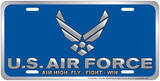 Air Force - Aim High Embossed Tin Sign Carteles metálicos