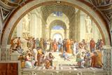 The School of Athens Scuola di Atene by Raphael Plastic Sign Placa de plástico por  Raphael