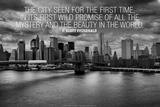 F. Scott Fitzgerald New York Quote Plastic Sign Placa de plástico