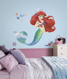 The Little Mermaid Peel and Stick Giant Wall Decals Veggoverføringsbilde
