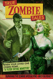 Zombie Tales Pulp by Retro-A-Go-Go Plastic Sign Plastic Sign