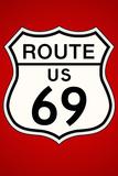 Route 69 Highway Plastic Sign Cartel de plástico