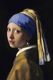Johannes Vermeer Girl with a Pearl Earring Plastic Sign Plastskilt av Johannes Vermeer