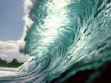 Waves Splashing in the Sea Fotografie-Druck