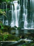 Waterfall Hebden Gill N Yorshire England Fotografie-Druck