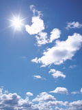 Clouds in Blue Sky, Lens Flare Photographic Print by Green Light Collection