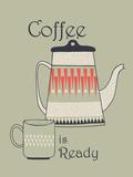 Tea and Coffee I Giclée-vedos tekijänä Laure Girardin-Vissian
