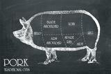 Butcher's Guide IV Giclée-Druck von  The Vintage Collection