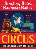 The Circus Comes to Town Giclee Print by  The Vintage Collection
