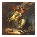 Modello For Napoleon Crossing The Alps Premium Giclée-tryk af Jaques Louis David