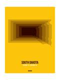 South Dakota Radiant Map 3 Premium Giclee-trykk av  NaxArt