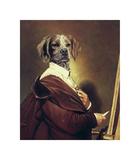 Au Portrait Premium Giclée-tryk af Thierry Poncelet