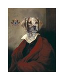 The Red Cape Spaniel Premium Giclée-tryk af Thierry Poncelet