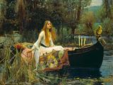 The Lady of Shalott, 1888 写真プリント : ジョン・ウイリアム・ウォーターハウス