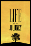 Life is a Journey Plastic Sign Targa di plastica