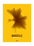 Marseille Radiant Map 3 Affischer av  NaxArt
