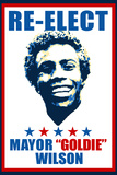 Re-Elect Mayor Goldie Wilson Plastic Sign Plastic Sign