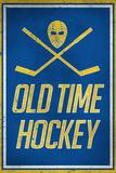 Old Time Hockey Sports Plastic Sign Plastskylt