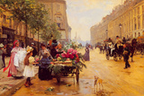 Rue Royale, Paris Giclée-tryk af Louis Marie de Shryver
