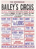 Baileys Circus Giclée-Druck von  The Vintage Collection