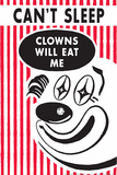 Can't Sleep Clowns Will Eat Me Funny Plastic Sign Placa de plástico por  Ephemera