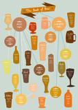 The Best of Beer Poster di Clara Wells