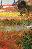 Vincent Van Gogh Flowering Garden Plastic Sign Placa de plástico