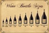 Wine Bottle Size Chart Plastic Sign Plastskilt