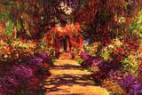 Claude Monet Path in Monet's Garden in Giverny Plastic Sign Plastic Sign