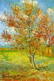 Vincent Van Gogh Pink Peach Tree in Blossom Reminiscence of Mauve Plastic Sign Signe en plastique rigide