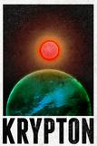 Krypton Retro Travel Plastic Sign Plastskilt