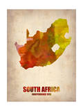 South Africa Watercolor Poster Plakater af  NaxArt