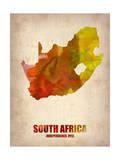 South Africa Watercolor Poster Giclée-Premiumdruck von  NaxArt