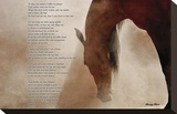 The Horse's Prayer Stretched Canvas Print by Barry Hart