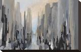 Stadtmitte Bedruckte aufgespannte Leinwand von Gregory Lang