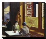 Chop Suey, 1929 Toile tendue sur châssis par Edward Hopper