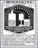 Moonshine (White & Black) Serigrafi (silketryk) af Kyle & Courtney Harmon