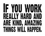 Work Hard (White & Black) Silketrykk av Kyle & Courtney Harmon