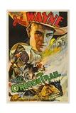 THE OREGON TRAIL, (poster art), John Wayne, 1936 Poster