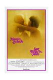Last Tango in Paris, Marlon Brando, Maria Schneider, US poster, 1972 Print