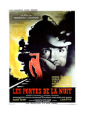 Gates of the Night, (aka Les Portes de la Nuit), French poster, Yves Montand, 1946 Pôsters