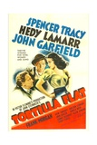 TORTILLA FLAT, from left: Spencer Tracy, John Garfield, Hedy Lamarr, 1942. Posters