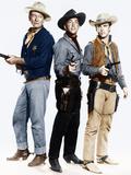 RIO BRAVO, from left: John Wayne, Dean Martin, Ricky Nelson, 1959 写真
