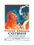 Carmen, French poster, Viviane Romance, Jean Marais, 1945 Poster