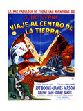 JOURNEY TO THE CENTER OF THE EARTH, (aka VIAJE AL CENTRO DE LA TIERRA), Argentinan poster, 1959 Kunstdrucke