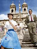 ROMAN HOLIDAY, from left: Audrey Hepburn, Gregory Peck, 1953 写真