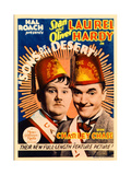 SONS OF THE DESERT, from left: Oliver Hardy, Stan Laurel, 1933. Poster