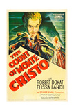 THE COUNT OF MONTE CRISTO, Robert Donat on US psoter art, 1934. Prints
