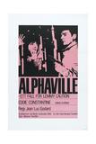 Alphaville, Swedish poster, Anna Karina, Eddie Constantine, 1965 Affiches