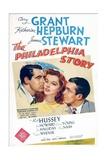 The Philadelphia Story, Cary Grant, Katharine Hepburn, James Stewart, 1940 Poster